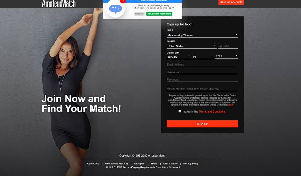 Revisión de AmateurMatch – ¿Grupo de oportunidades o estafa?
